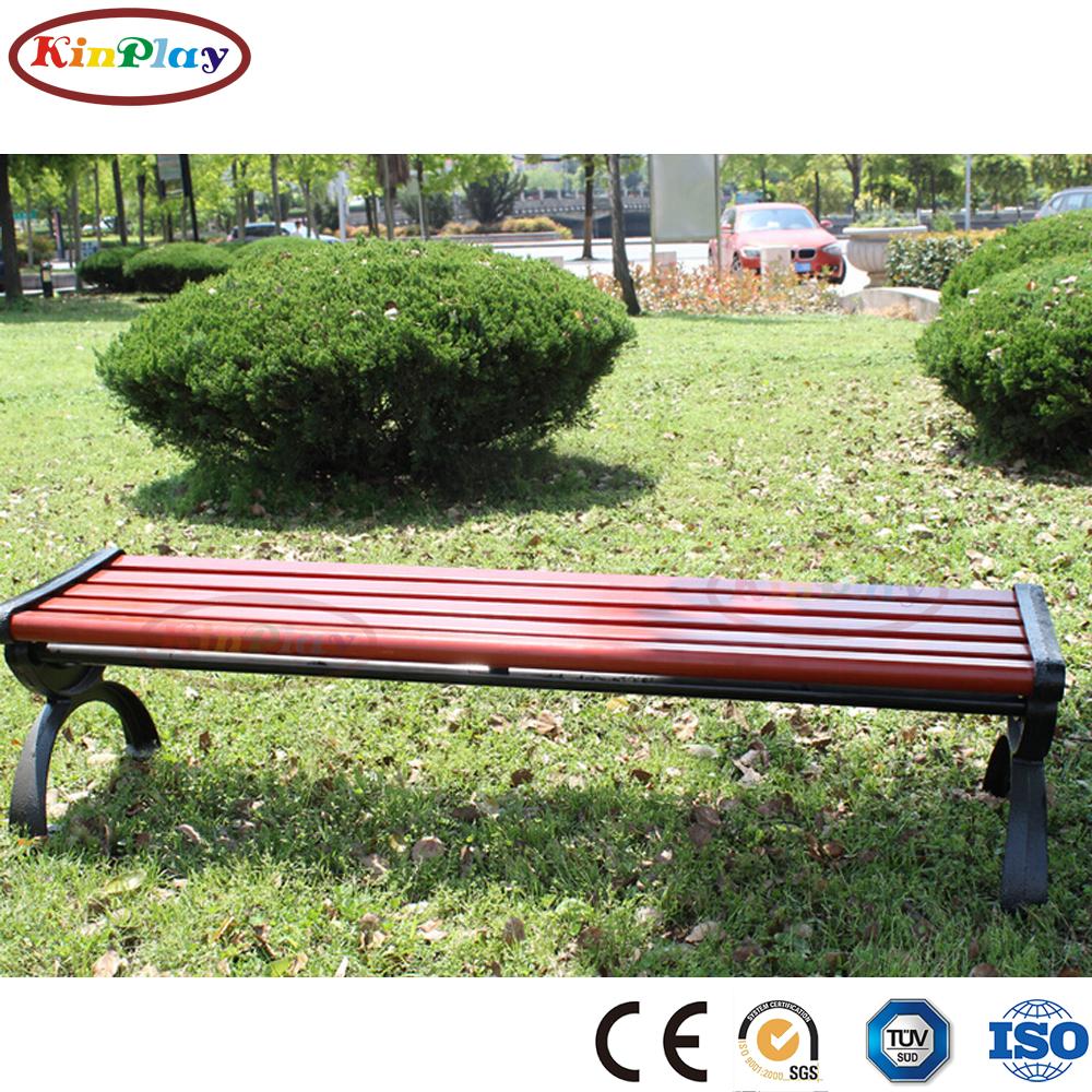 KINPLAY brand garden furniture wood plastic composite morden wooden park outdoor bench