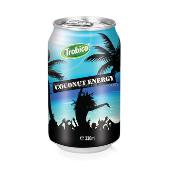 330ml canned Coconut Energy drink-VietNam Manufacturer-OEM Fruit Juice-From Trobico Brand