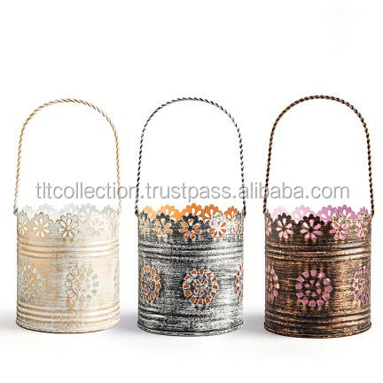 Iron Hanging Tea light Votive Holder Hanging Candle Pillar Holder