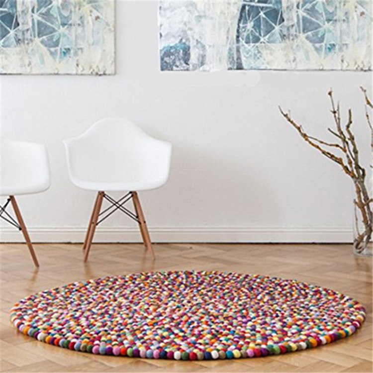 Wholesale High Quality Nepal Manufacture Handmade Felt Ball Carpet