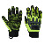 Hi Vis Solid Grip Impact Mechanics Gloves