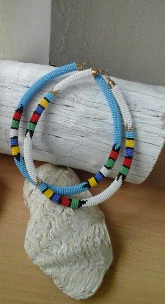 South African Inspired Beaded Tube Necklace