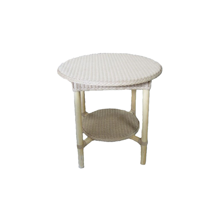 Handmade Table White Rattan Best Quality