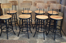 Industrial Vintage Swivel Bar Stool