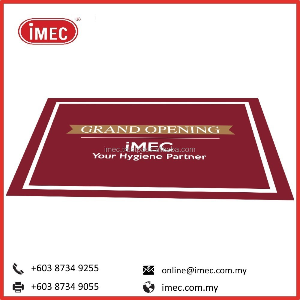 Custom Design Printing Industrial Door Floor Mat, IMEC HD Logo Mat, 85 x 150cm