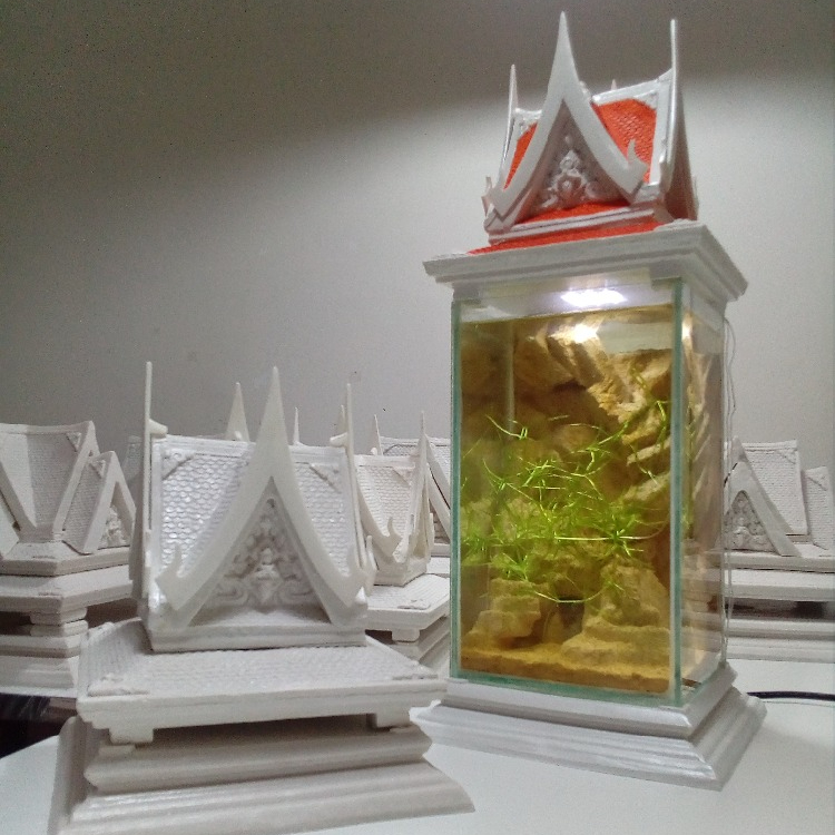 Fish Aquarium Handmade With LED Resin&Fiber Thai style Contemporary