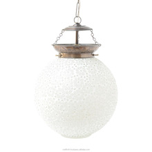 Multicolored Most searched Decorative Volatile Marble Look Glass Hanging Lamp