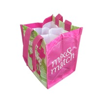 KDSB 1193 PP nonwoven shopping bag- 4 bottles wine bag with lamination- promotional bag