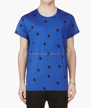 Black Dotted Round Neck T-shirt