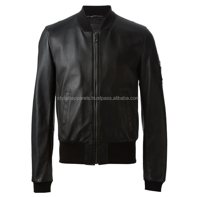 custom wholesale cheap fashion man leather jacket for men
