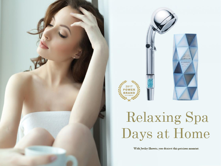 Luxury and Anti-aging shower water filter JEWELRY SHOWER with deodorization effect