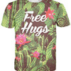 Free Hugs Flower Design Sublimation T