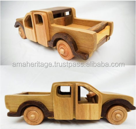 pickup truck model wooden farm truck for toys factory direct sale