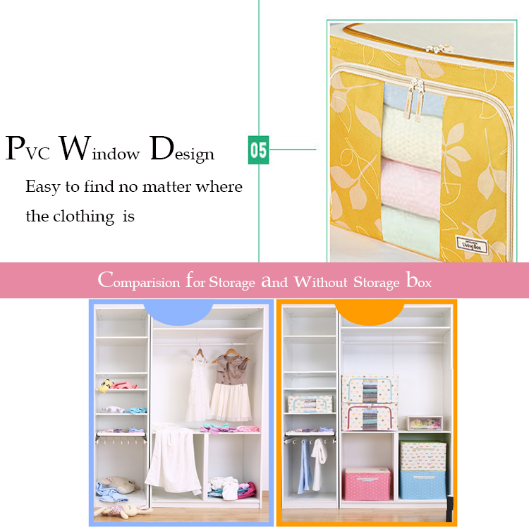 2018 wholesale fabric folding clothes storage bags