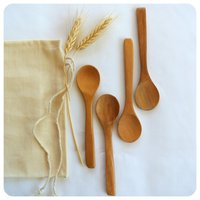 Hot item to sell wood spoon/coconut wood spoon/ wood measuring spoon set handmade craft