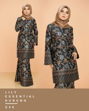 High Fashion Style Muslim Women Fashion Kebaya Modern Traditional Malaysian Dress Baju Kurung