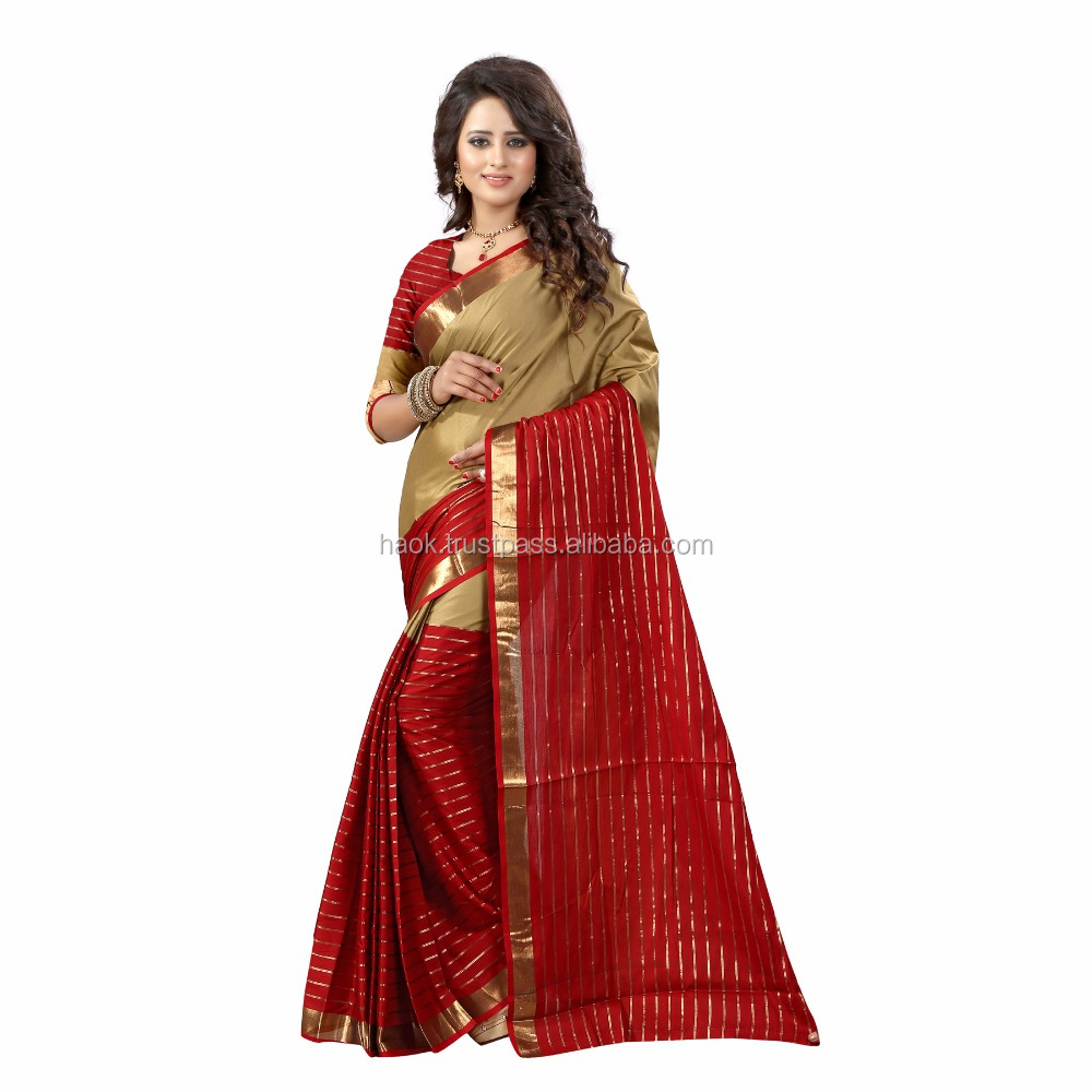 latest Indian Wear Beige Banarasi Art Silk saree