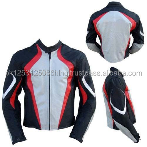 Stylish Real Leather Jacket For Men / Motorbike Leather Jacket