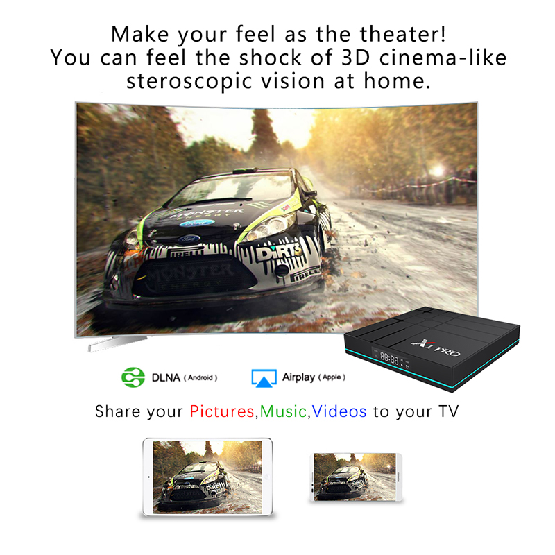 X1 pro 4K Network set top box RK3318 TV BOX 4+32GB Android 9.0 system