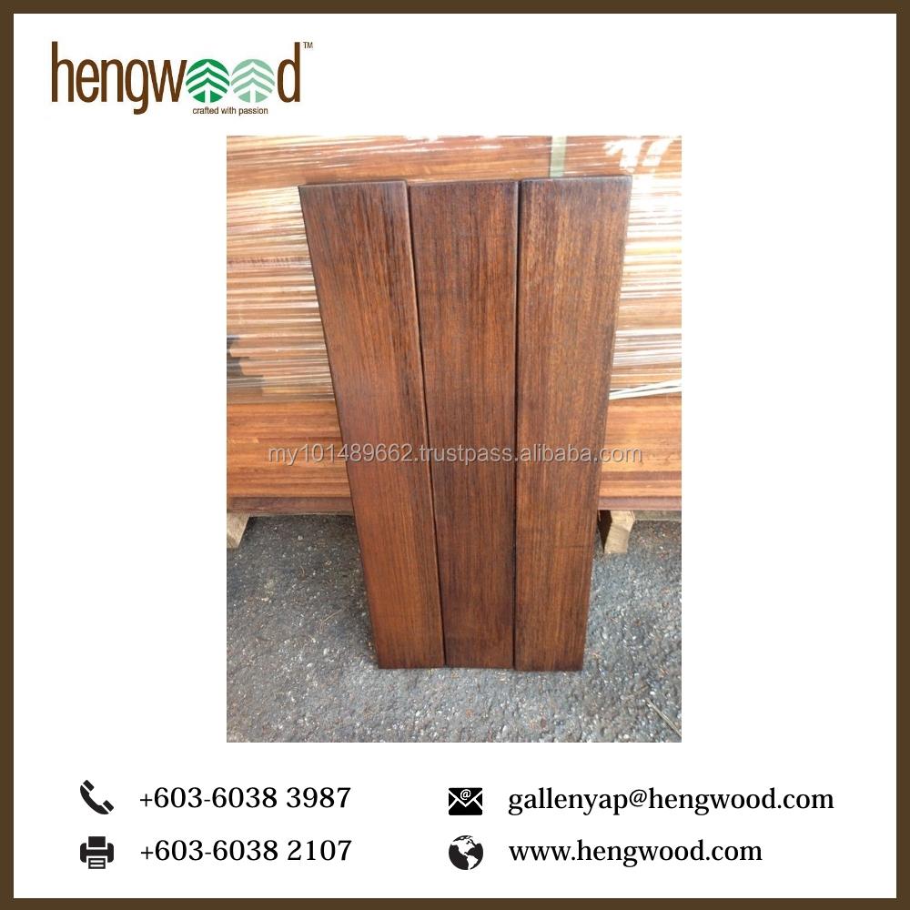 High Quality Merbau Solid Wood Decking From Malaysia