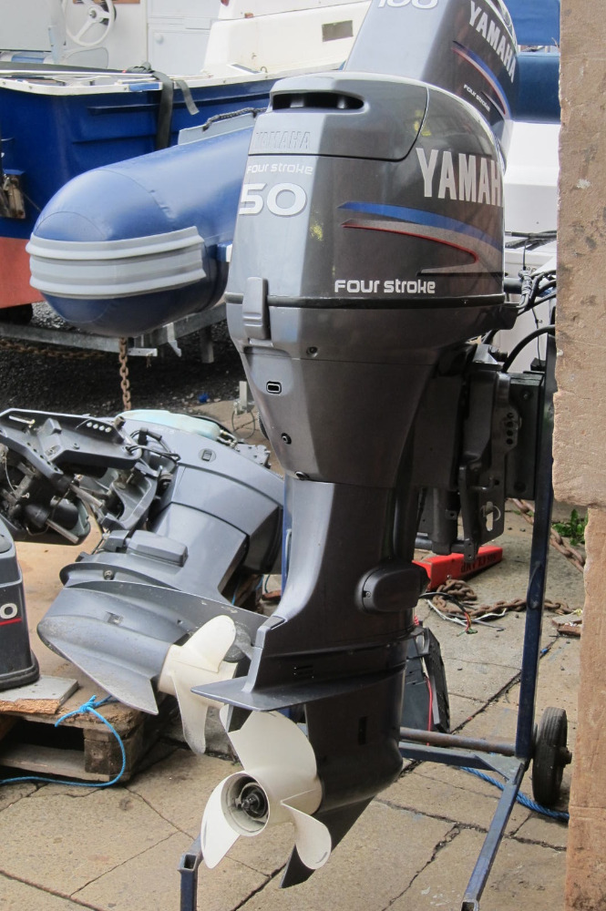 FREE SHIPPING FOR USED YAMAHA 50HP 4 STROKE OUTBOAD MOTOR BOAT ENGINE:::+18722671827