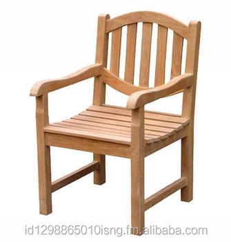 woderfull indonesia furniture teak garden oval arm chair with wholesale