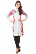 Long latest women shirt collar kurta design wholesale