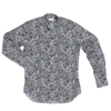Band Collar 100% Printed Cotton confortable fit Made in Italy man shirt