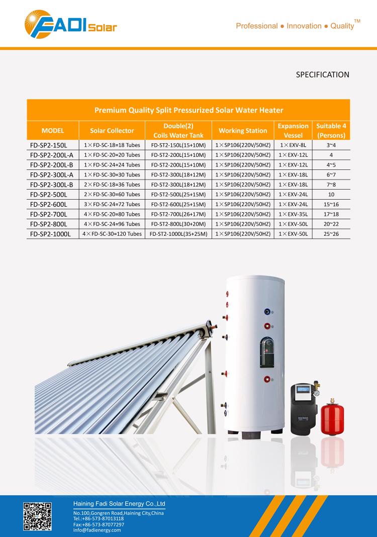 Household solar water heater system from (150 liter)