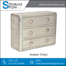 High Quality Aviator Solid Chest of Drawers