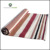 Modern design striped pattern handmade washable cotton yoga rug