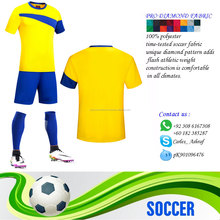 Personal custom american soccer football uniforms/Polyester Dry Fit Football Soccer Sets