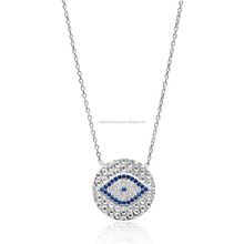 New Season Evil Eye Design Pendant Wholesale Handmade 925 Sterling Silver Jewelry For Women