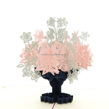 3d pop up card for business laser cutting machine Hot sale pop up card wholesale