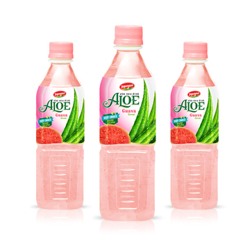 Aloe vera guava drink Aloe vera juice in pet bottle 500ml