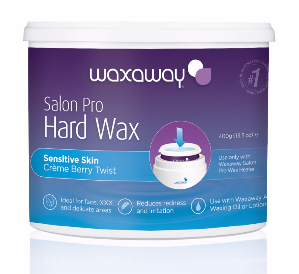 Waxaway Salon Pro Creme Berry Twist Sensitive Formula Hard Wax