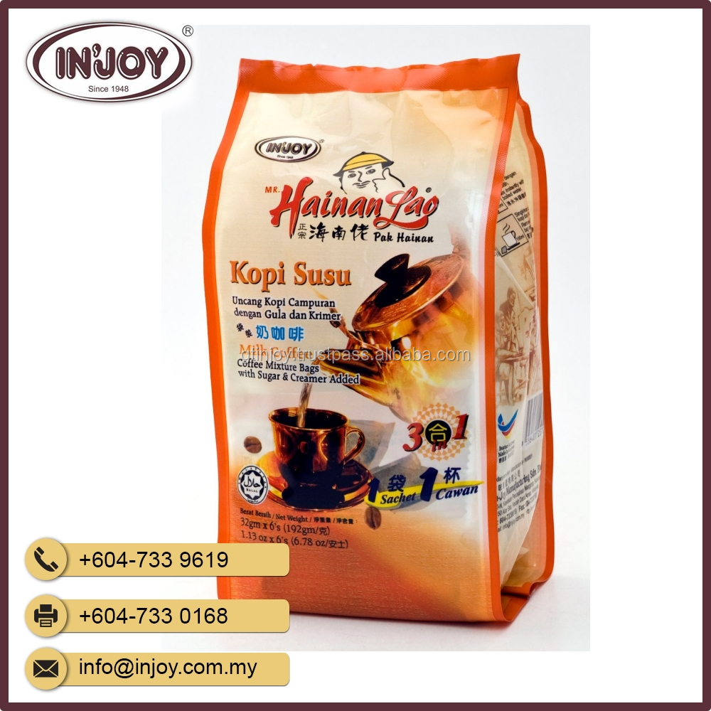 Traditional - Hainan Lao Kopi Susu Instant Coffee Packaging with Filter From Malaysia