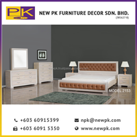 Malaysia Best Quality NPK 2153 double color wardrobe design furniture bedroom, Malaysia solid wood bedroom Furniture