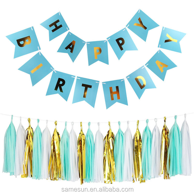 Happy Birthday Paper Banner Decoration Set For Party