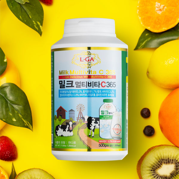 Milk multi vita C 365 vitamin candy gummy candy blueberry extract strawberry flavor yogurt candy orange flavor Tangerine