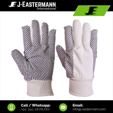 Drill PVC Dotted 100% Cotton Gloves with Knitted Wrist Clout Cut Style
