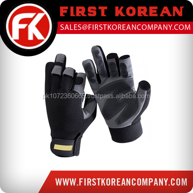 2017 Hot Sale Low Price Hand Anti-Static Goat Grain Top Fit Mechanic Gloves
