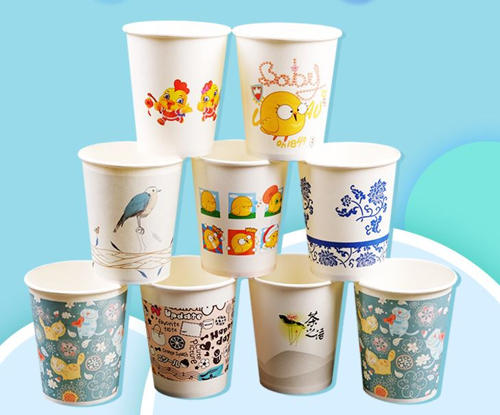 Single Wall Paper Cup custom logo cold hot drinks high quality