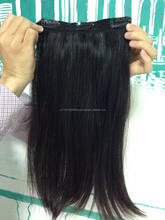 100% unprocessed remy hair extension clip in human hair cheap, wholesale top quality