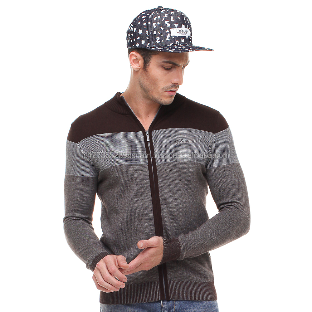 High Quality Sweater Cardigan With Front Zipper For Men