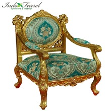 2018 Royal Barcelona Gold Chair with Armrest and Spring mechanism Jepara Furniture