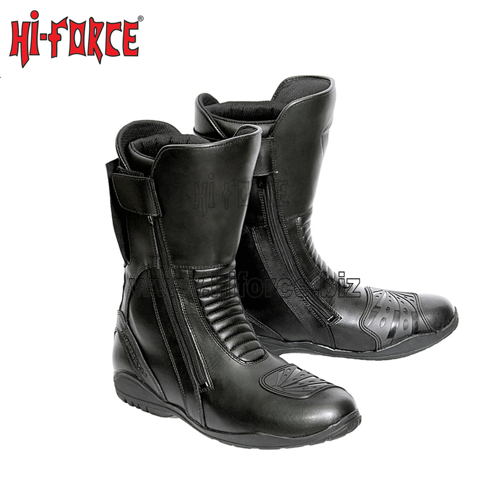 Motorcycle Boots Street Chopper Cruiser Touring Motorbike Riding Mid-Calf Shoes