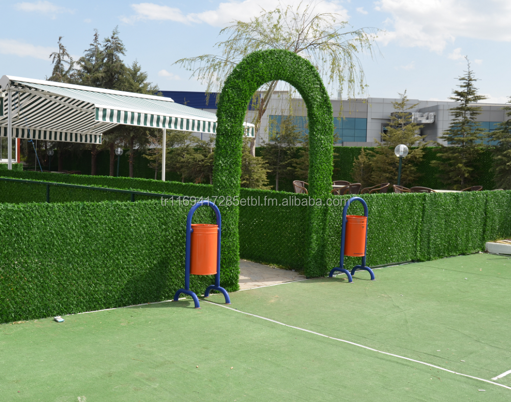 DECORGRASS Artificial Grass Hedge Fence With 40x40 Wire Mesh - Anti UV - Unflammable