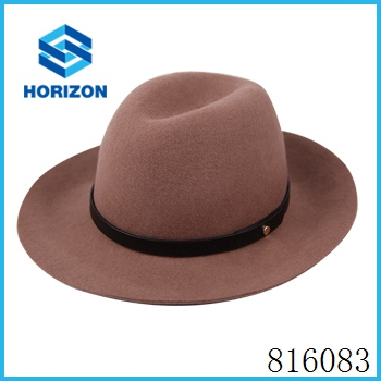 Beautiful beach hat female 100% Australian wool felt floppy hat wholesale