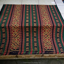Tenun Ikat Blanket Traditional Motif Toraja Antik, Ikat Indonesia Handmade, Ikat Woven Traditional for Shirt, Bali Etnic Ikat